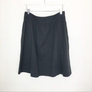 Career wear Midi black skirt Theory